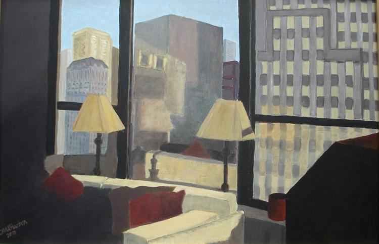 Chicago Home,40cm x 50cm  Oils,  2010 (sold)