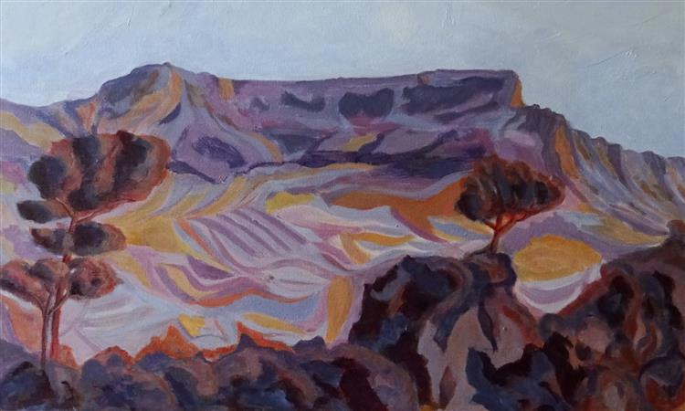 Table Mountain, Acrylics, 40 x 60 cms, 2018