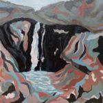 Karkloof Falls, Acrylics,  30 x 20 cms,  2014