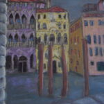 Palaces on the Grand Canal, 20cm x 20 cm, Pastels, 2014