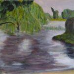 Inner Pond, Acrylics, 30 x 50 cms. 2020