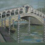 Rialto Bridge, Venice, 20cm x 30cm, Pastels, 2014