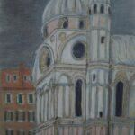 Santa Maria dei Miracoli, Venice,  30 x 20cms, Pastels (sold)