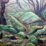 Wistman's Wood, Dartmoor, Acrylics, 40 x 50 cm, 2012