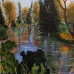 The Fallen Tree, Acrylics,60 x 40 cms., 2020
