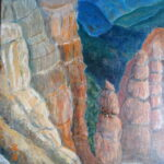 Bryce Canyon, acrylics, 60 x 50 cm, 2012