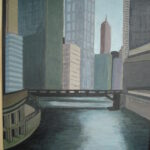 Chicago River,acrylics 60 x 40 cm, 2012 (sold)