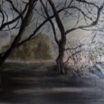 Misty Sunrise, Abingdon, Oils, 30 x 40 cms 2020
